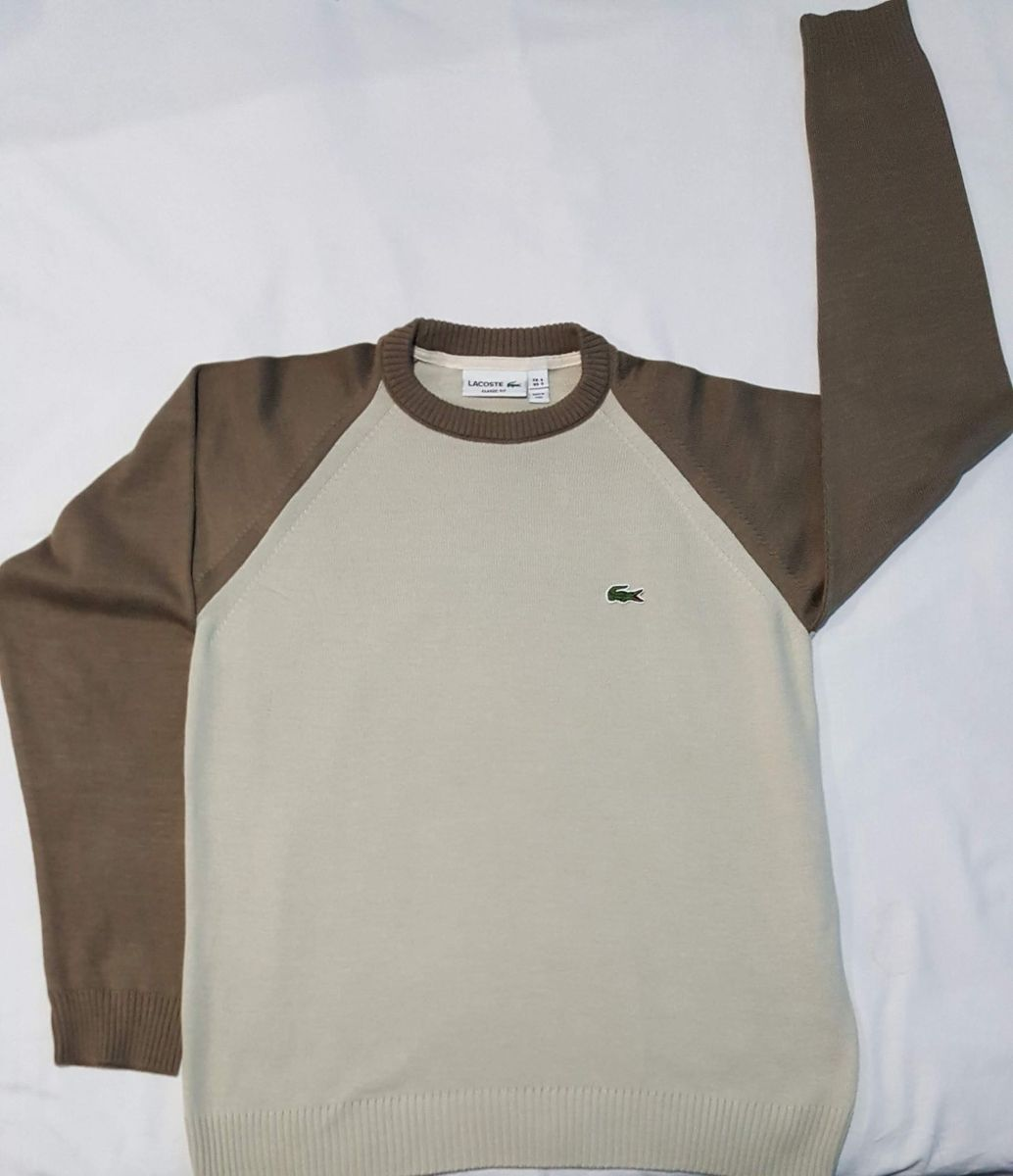 suéter masculino da lalá marrom p - casacos outras