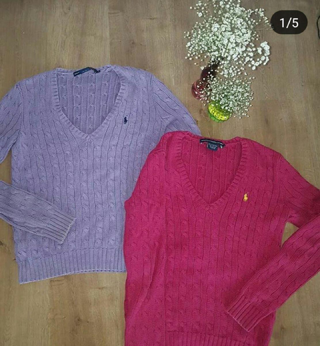 156bd2937c suéter polo ralph lauren roxo - casaquinhos polo ralph lauren