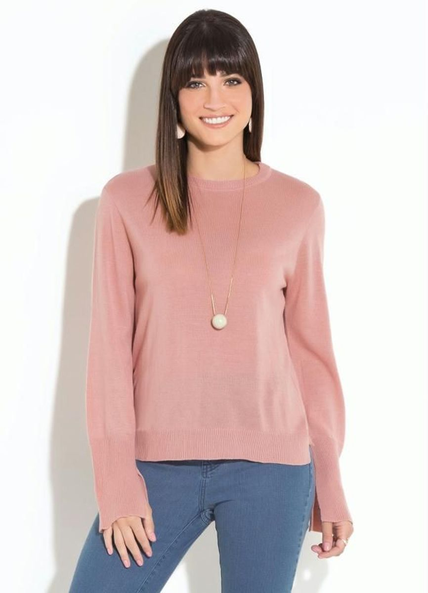 suéter rosê quintess - blusas quintess