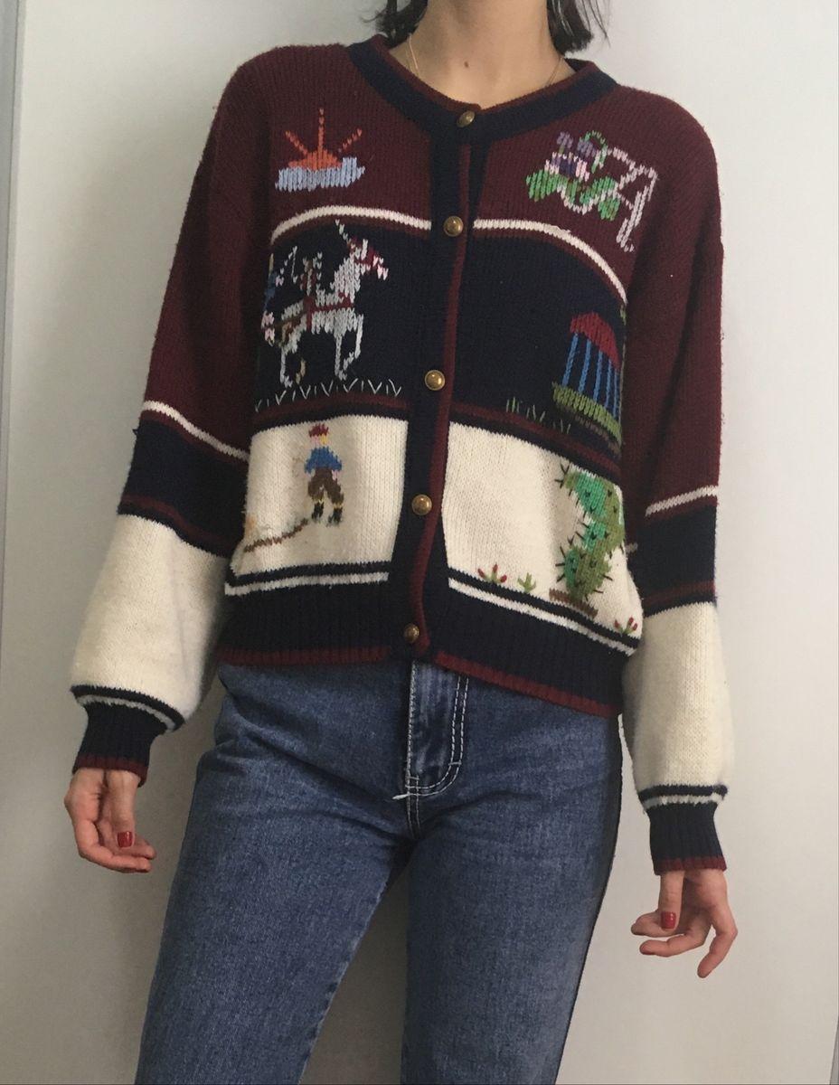 suéter vintage - casaquinhos sem marca