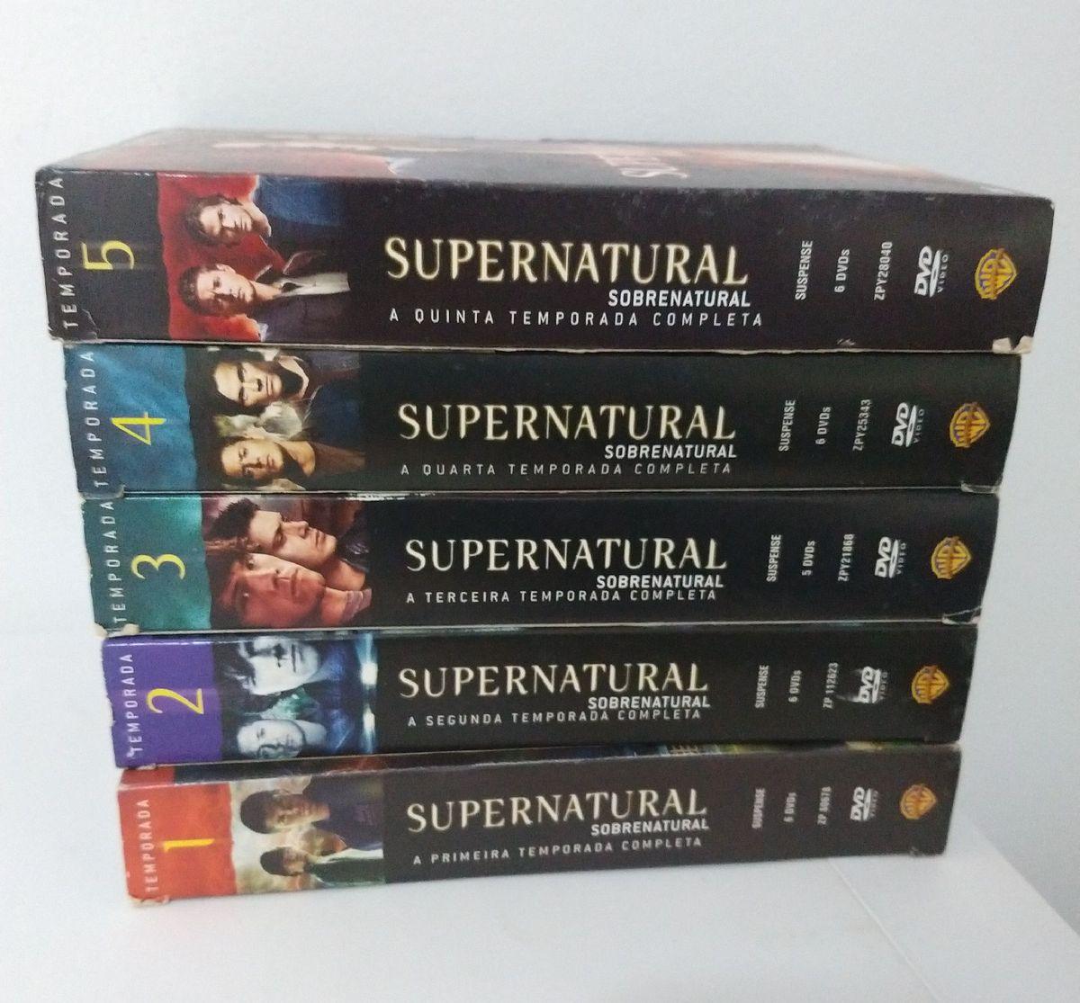 supernatural temporadas 1 a 5 - filmes e séries warner bros