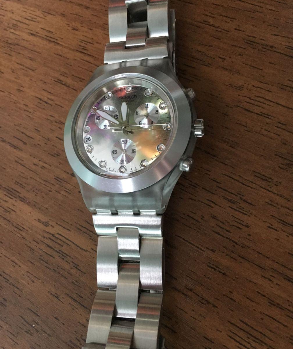 9f12f49b237 relógio swatch full blooded impecável - relógios swatch