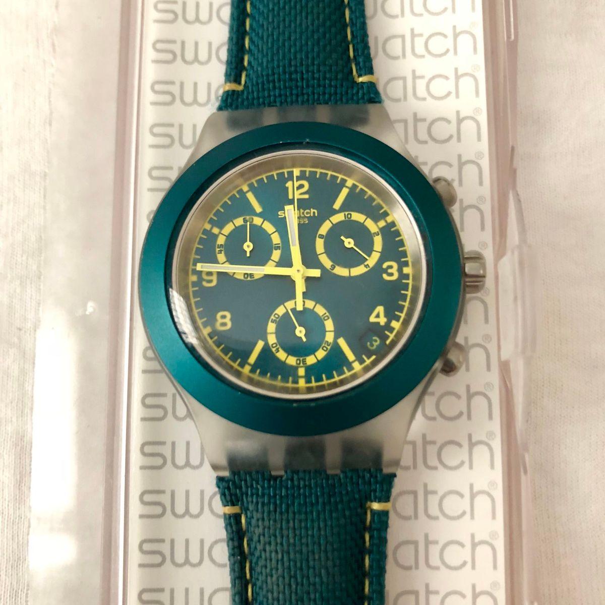 5cf645f2c52 Swatch Irony Diaphane Verde