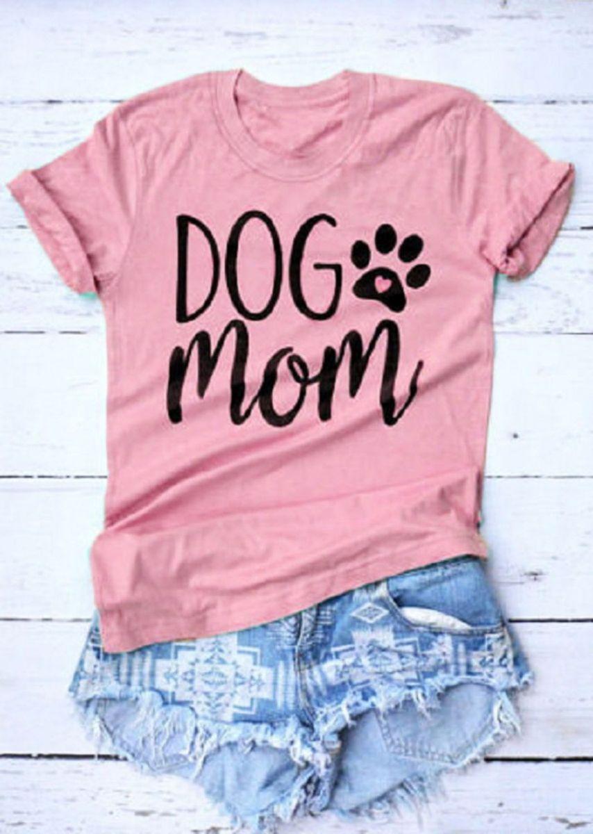 5935fdb50 T-shirt #dog Mom Camiseta Feminina Blusa Moda 2019 Camisa Blogueiras ...