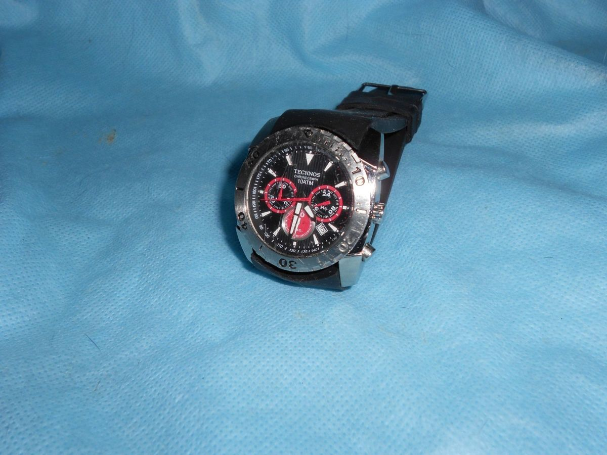 48a82d94ed7 relógio technos chronograph 10 atm - relógios technos