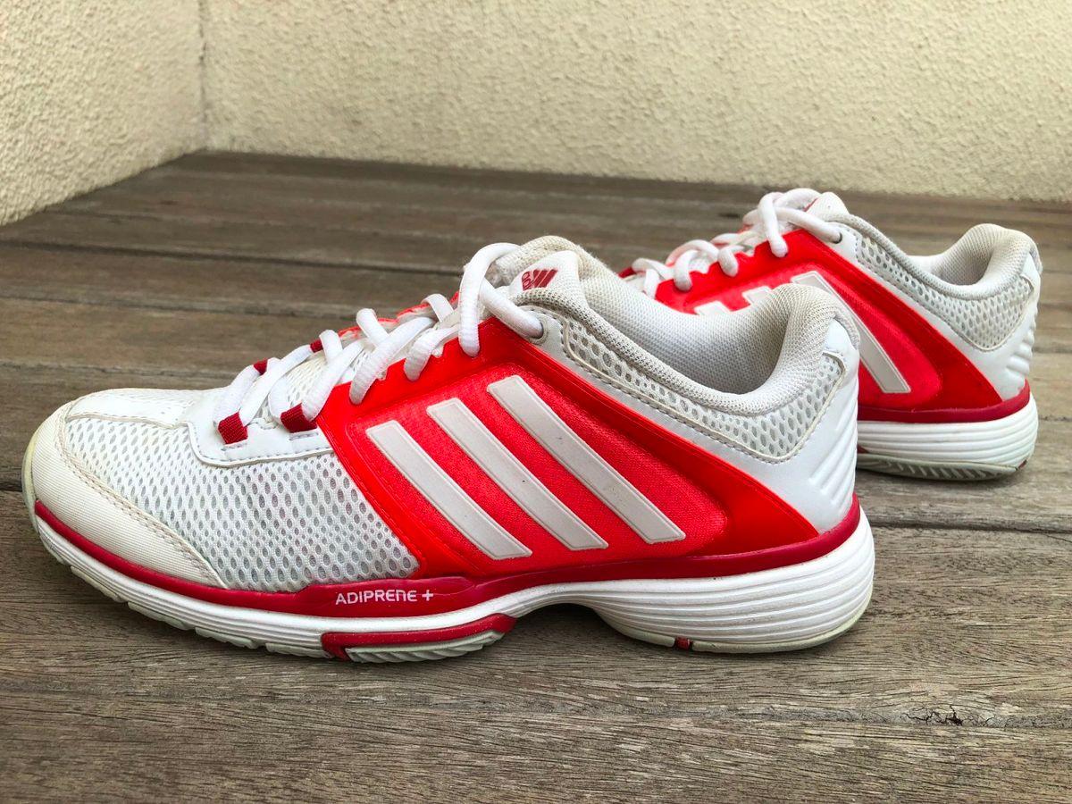 tênis adidas adiprene branco e laranja - tênis adidas farm 5bbcd7f5a2d1a