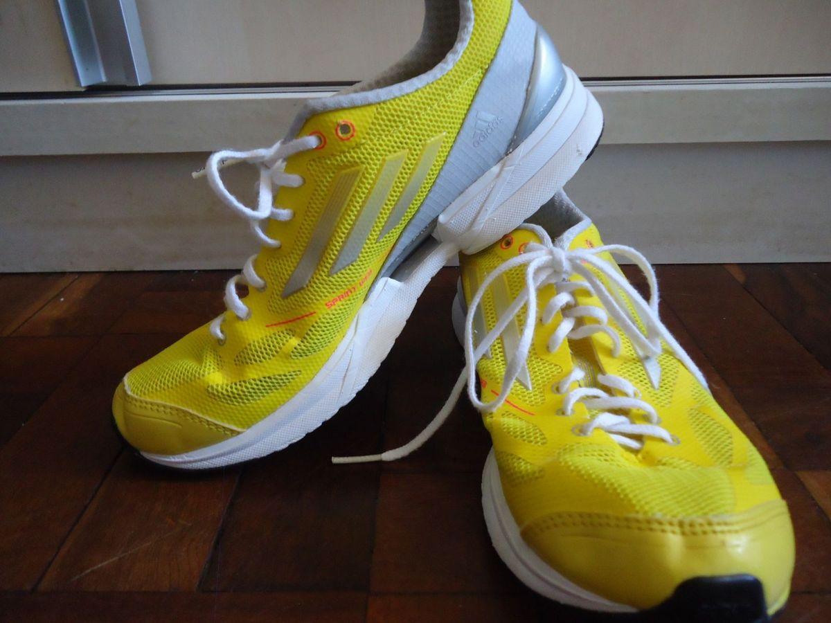 ac1a991a0 Tênis Adidas Adzero Feminino Amarelo 35 | Tênis Feminino Adidas ...