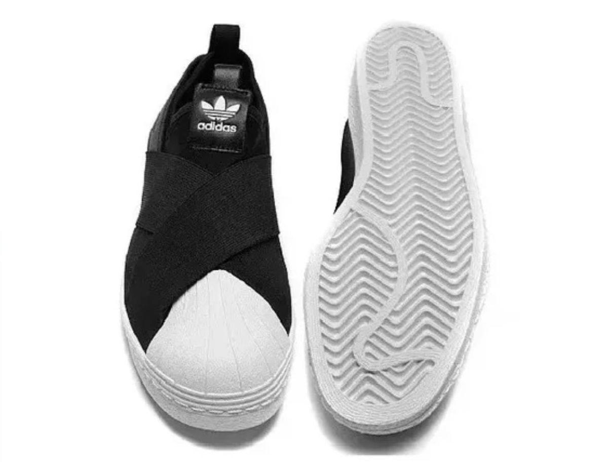 1eb8814de4 Tenis Adidas Slip On Preto Feminino Lançamento