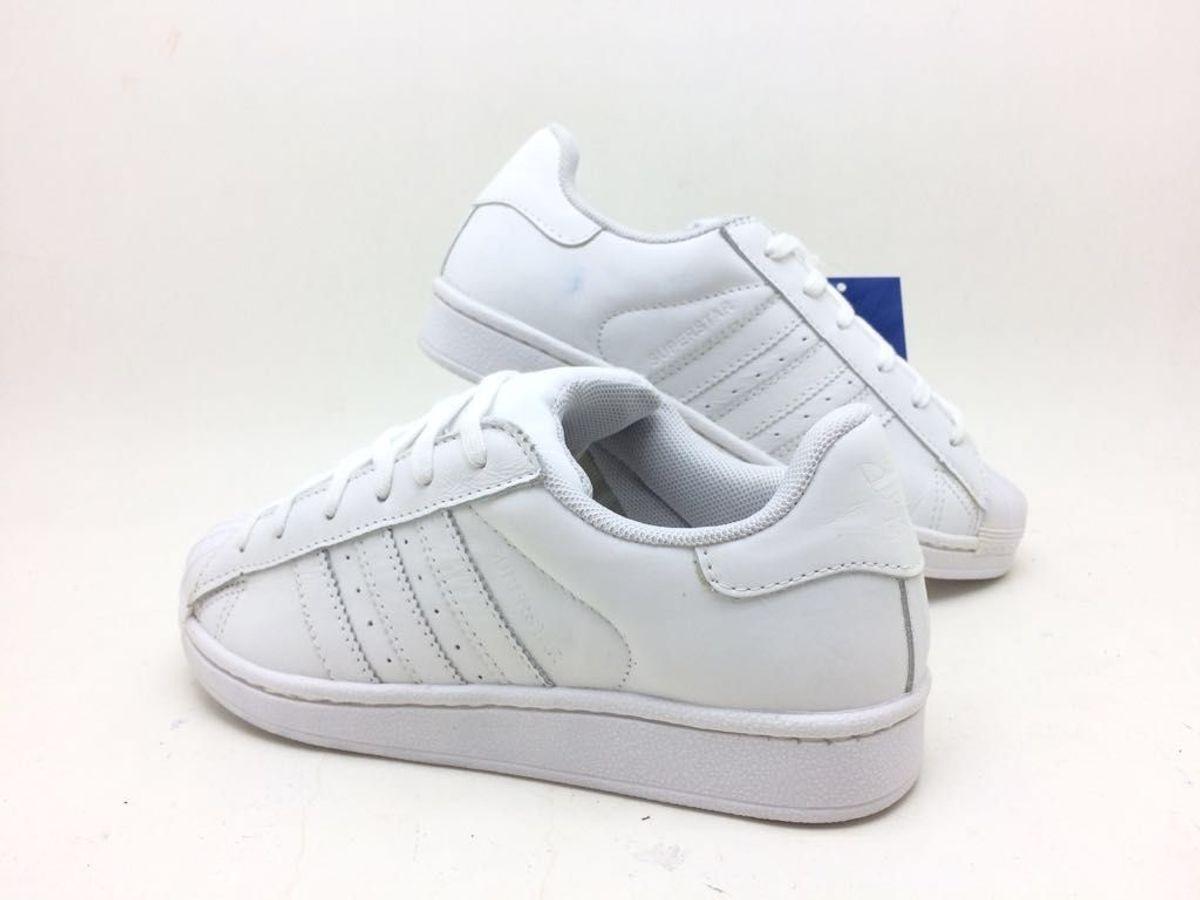 tênis adidas superstar feminino branco nº 39 - tênis adidas 26602c865cb2a