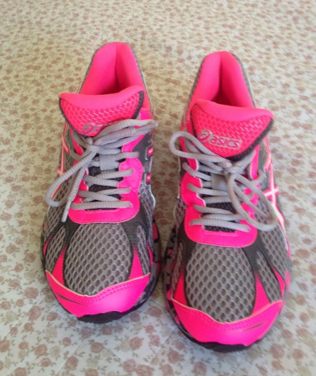 tenis asics feminino accelerato cinza e rosa - tênis asics be5e3a02cb00d