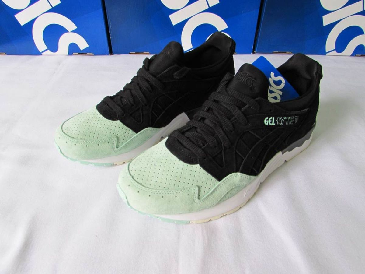 ee2ce49b6c tenis asics gel lyte v 5 suede toe preto verde casual 42 - tênis asics