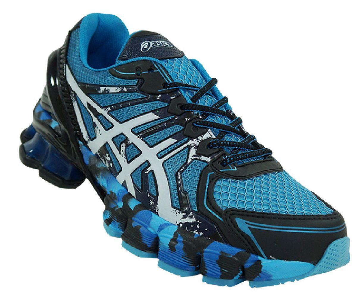 best authentic 76adb b5fd3 tênis asics gel sendai 2 azul e preto - tênis asics