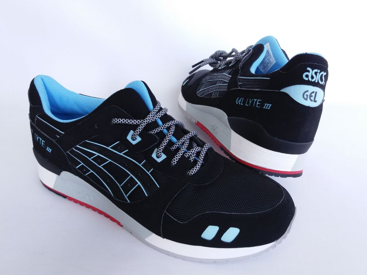 a3a276c5e4 tênis asics tiger gel lyte 3 preto azul - tênis asics