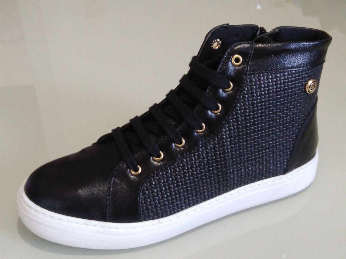 7f1ab512b26 tenis botinha feminino iate slipon cano alto preto - tênis quality shoes