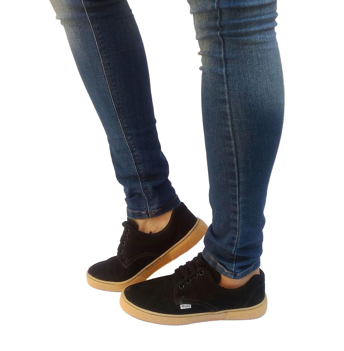 bdbd9708eb tênis casual feminino sapatenis feminino de couro preto - tênis up sneakers