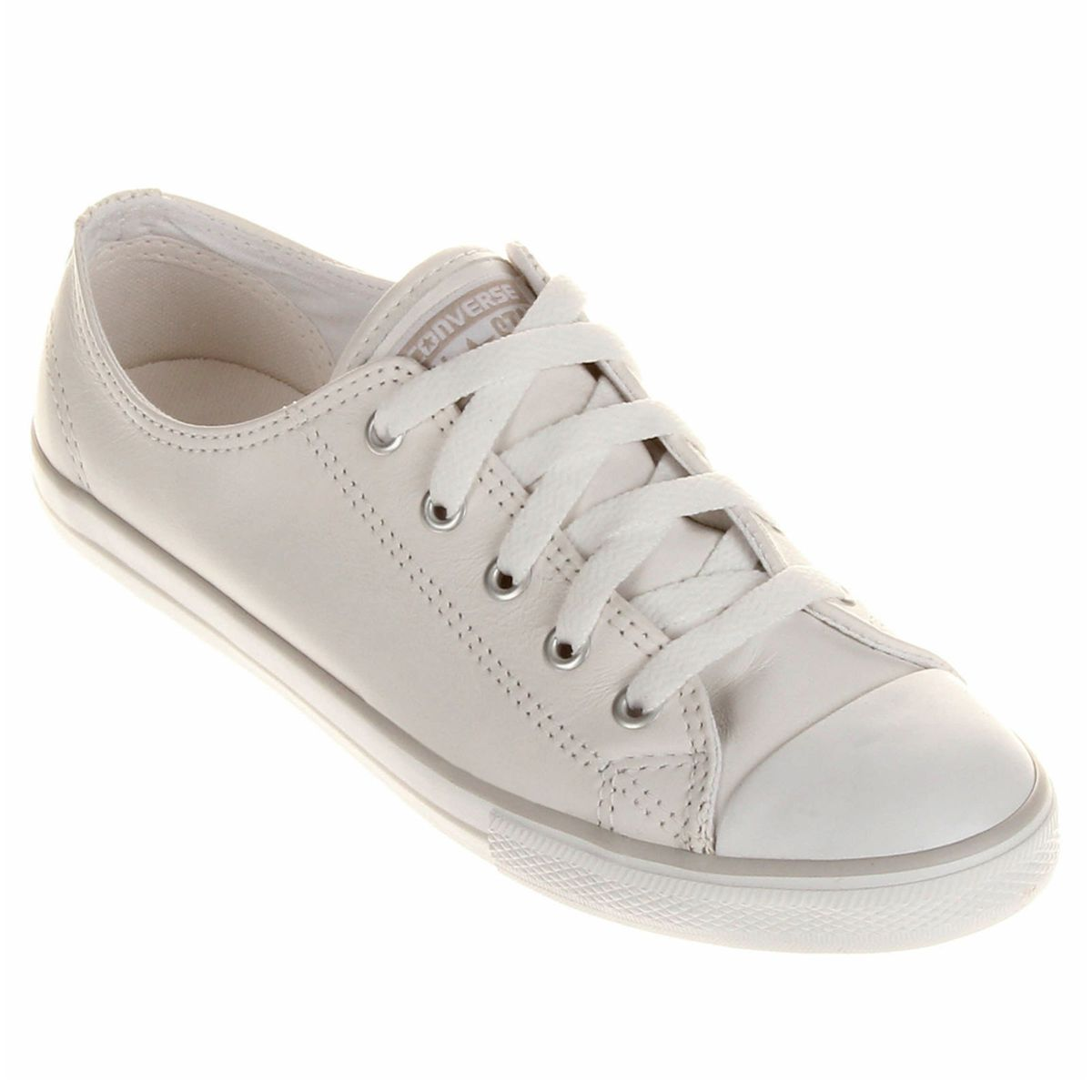 71081b140f1 Tênis Converse All Star Ct As Dainty Leather Ox Bege (cru)
