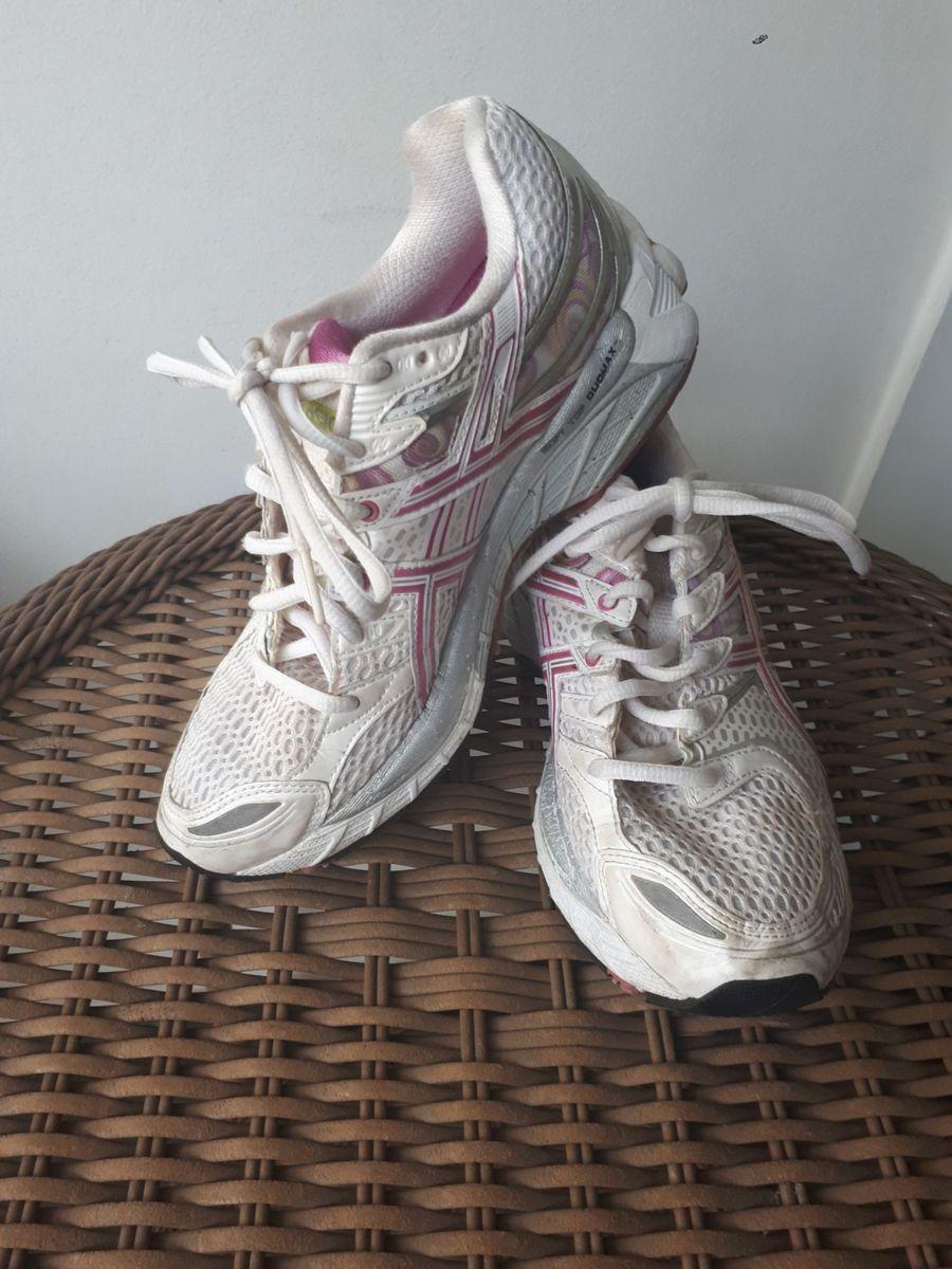 88f191acc7f tênis feminino corrida branco e rosa asics gel kayano 16 - tênis asics