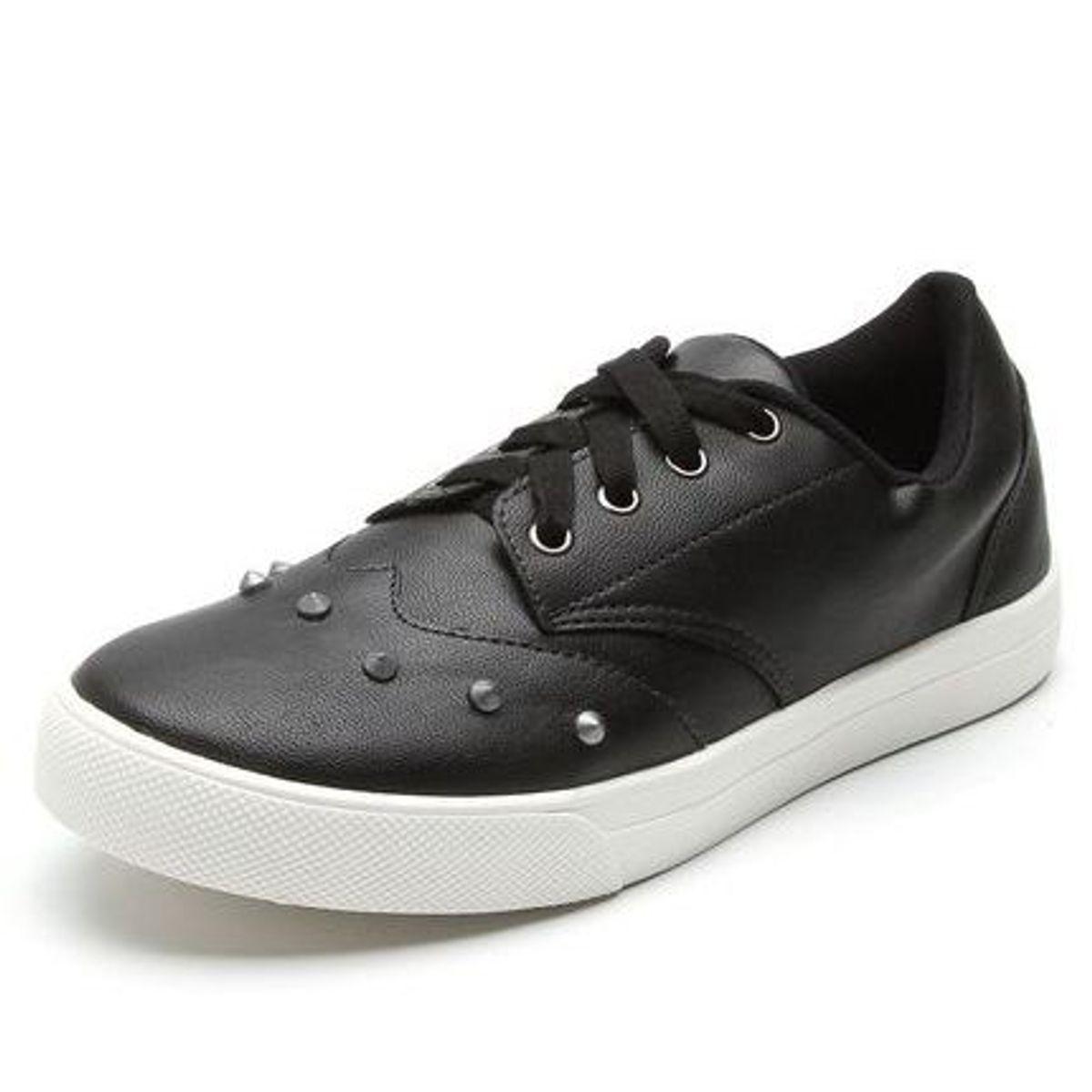 tênis couro spike preto - tênis ride skateboard