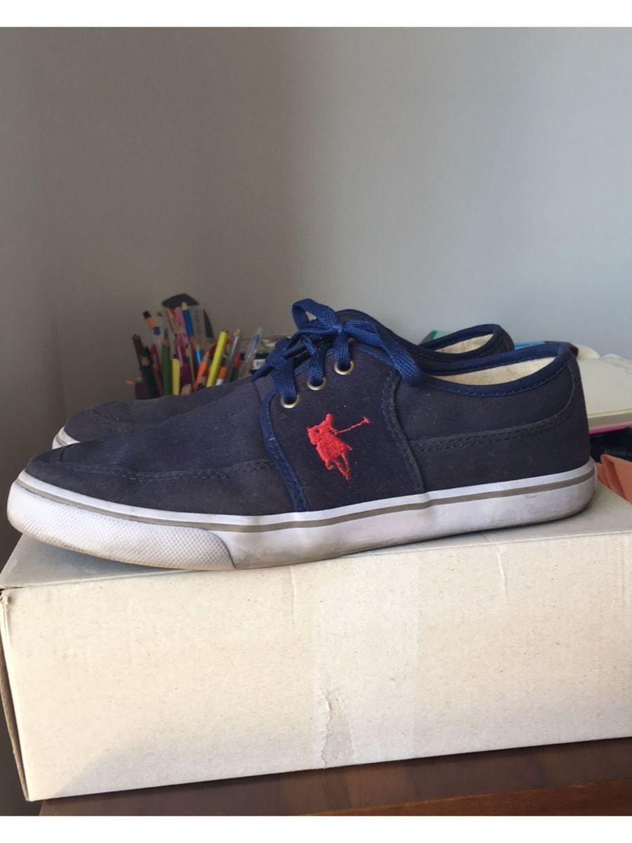 tênis dockside france azul marinho polo shoes - tênis polo shoes