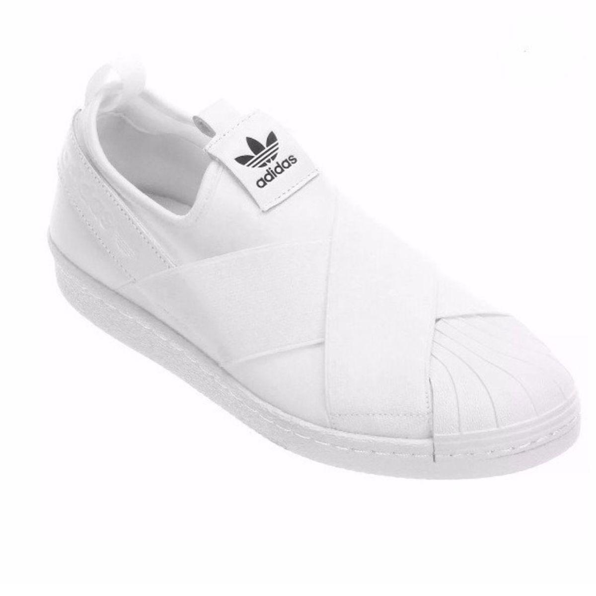 1c4dd8056 Tênis Elastico Adidas Superstar Slip On Branco 37