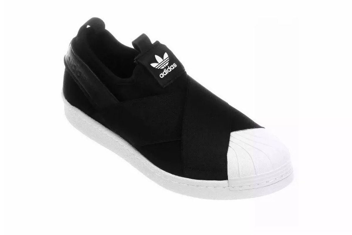 3a1603bcacd Tênis Elastico Adidas Superstar Slip On Preto 36