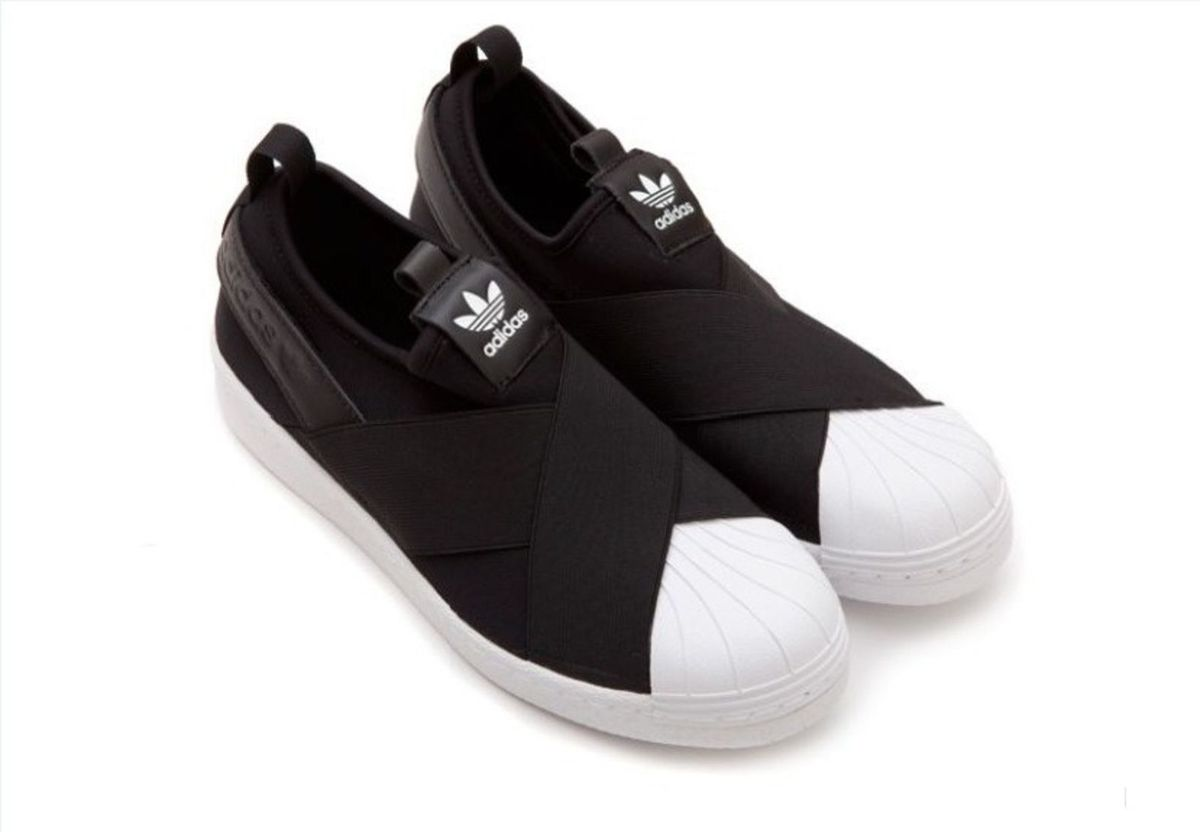 official photos 2b162 d24fd tênis elastico adidas superstar slip on preto 38