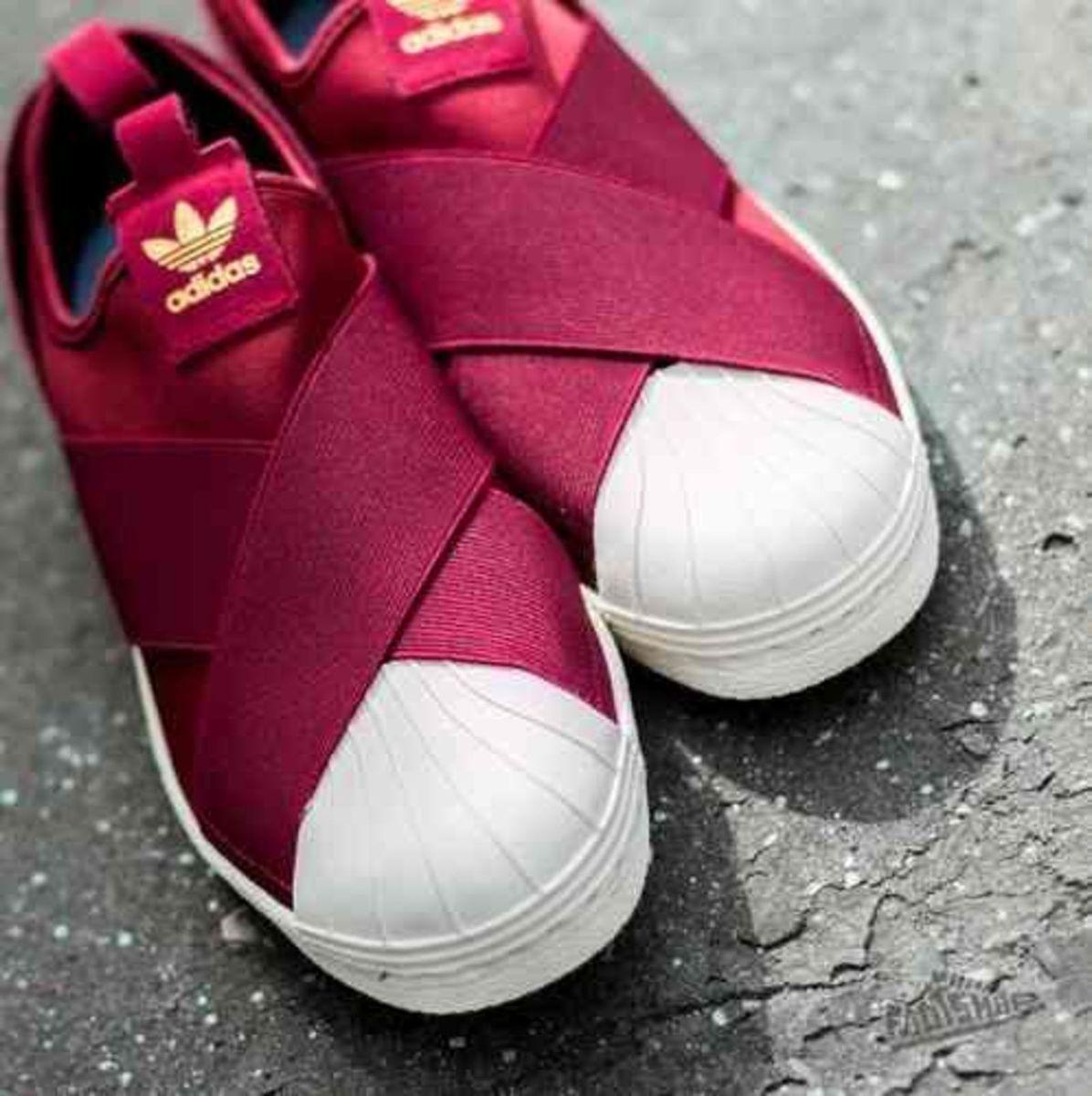 tênis elastico adidas superstar slip on vermelho 37 - tênis adidas 5ac141ebece00