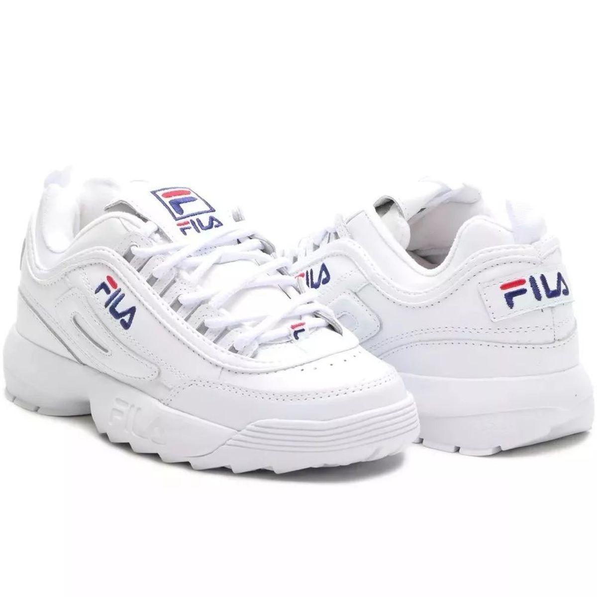 51daa913a9 Tênis Fila Feminino Sneaker Disruptor Branco Branco Nº 38