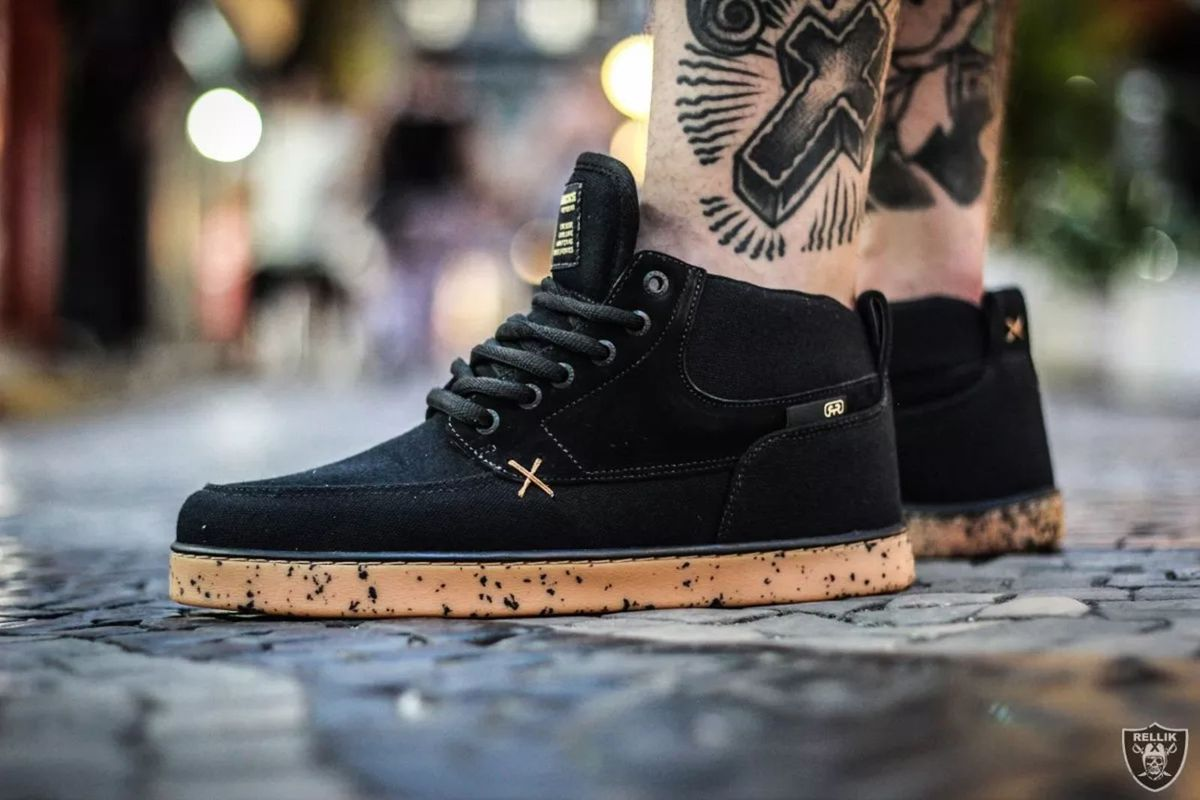 1105456fc0b tênis hocks coruña preto natural skate sneaker raro - tênis hocks