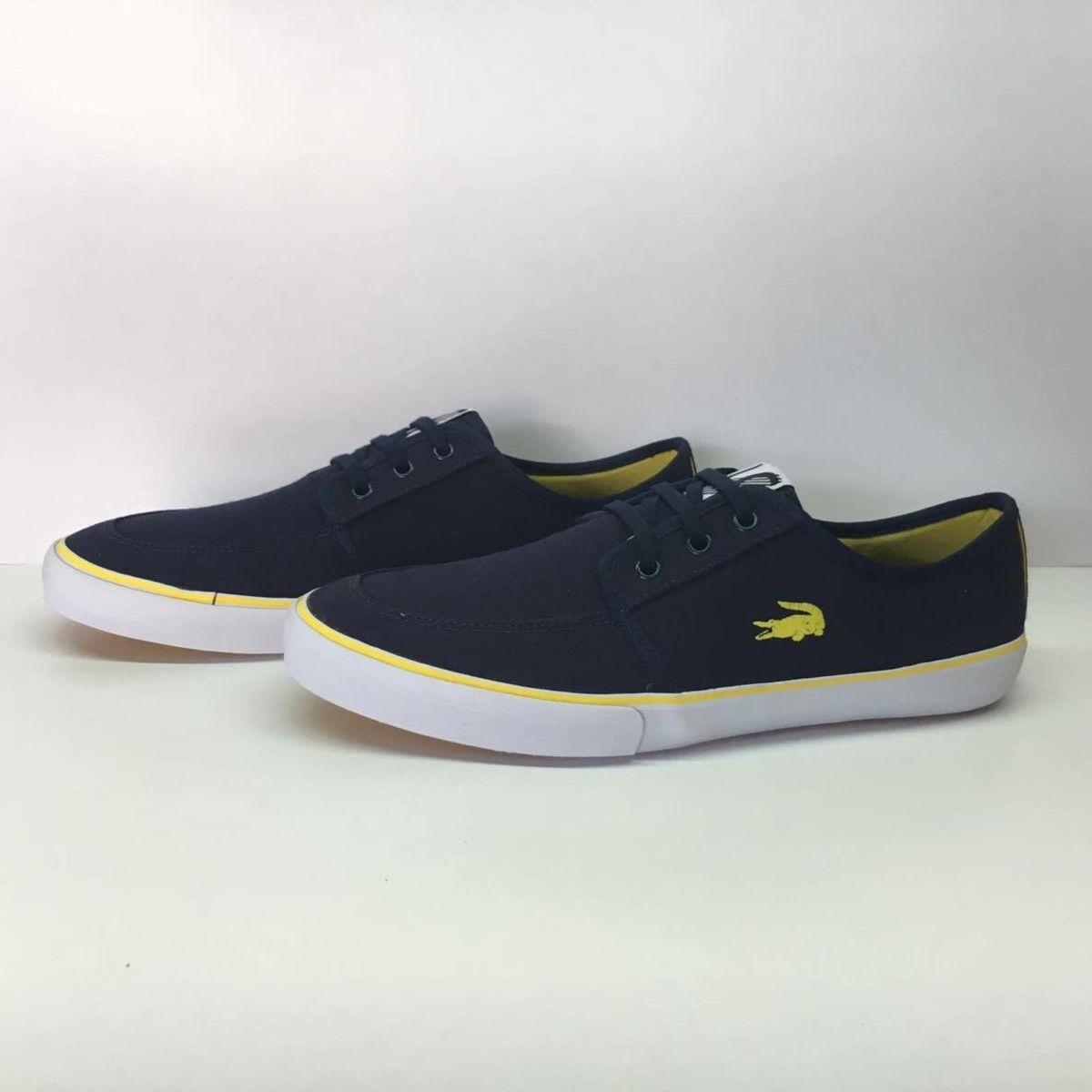 9b05b71a0e1 Tênis Lacoste Azul Marinho e Amarelo