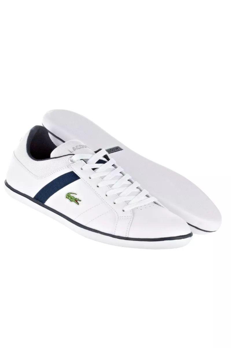 a5f43fe73b7 tênis lacoste evershot couro branco azul escuro tamanho 44 - tênis lacoste