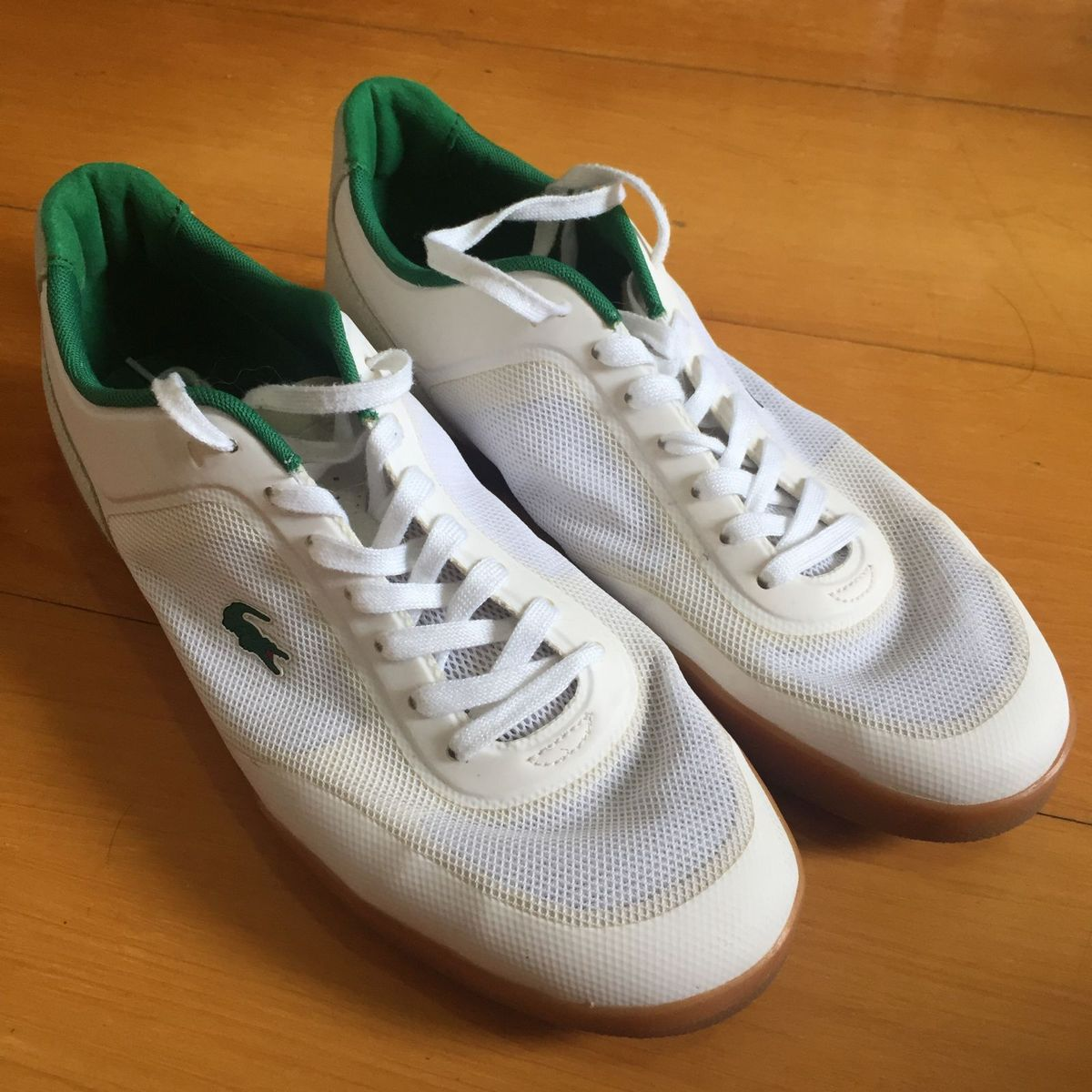0ccff0b4fda4a Tenis Lacoste Original Branco e Verde