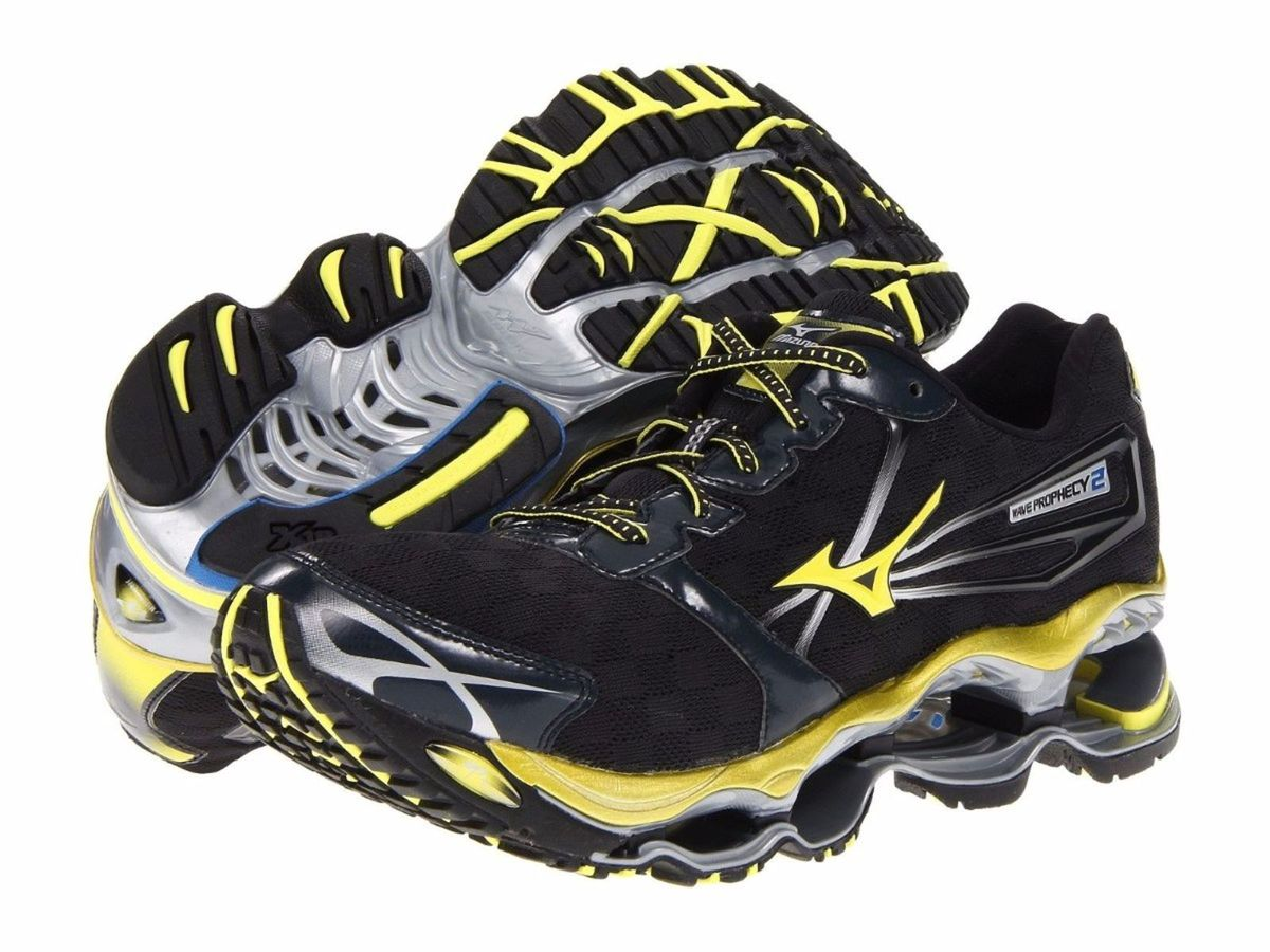 wholesale dealer b6a17 7ab84 tênis mizuno wave prophecy 2 masculino original preto - amarelo 39