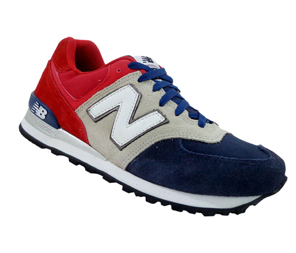 bb8a971a128 Tênis New Balance 574 Vermelho