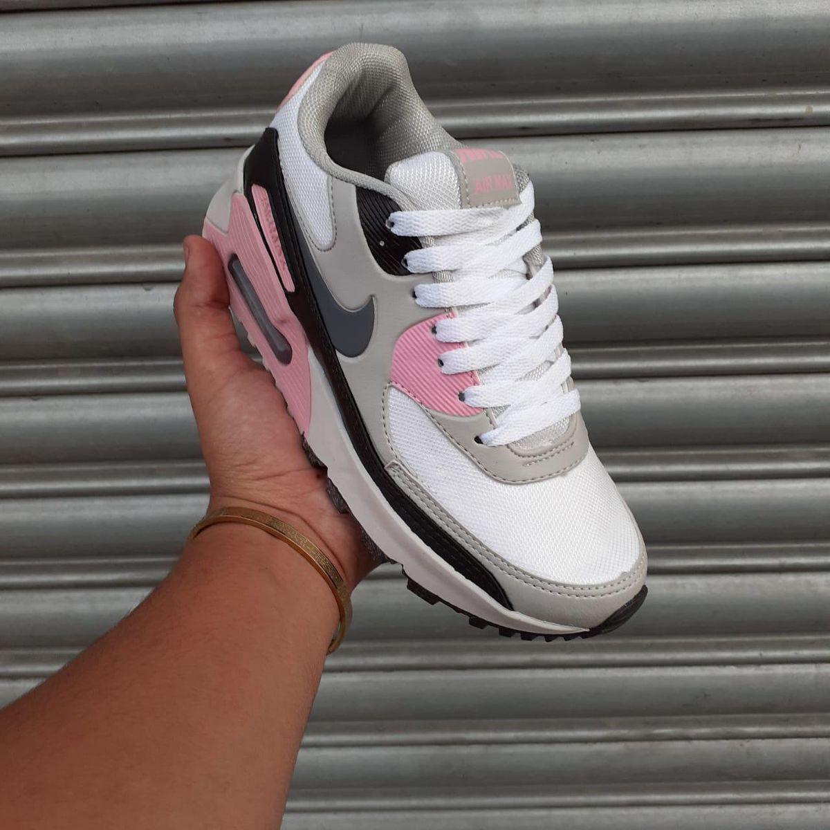 Tênis Nike Air Max 90 Cinza/rosa 37 | Tênis Feminino Nike Nunca Usado 43313807 | enjoei