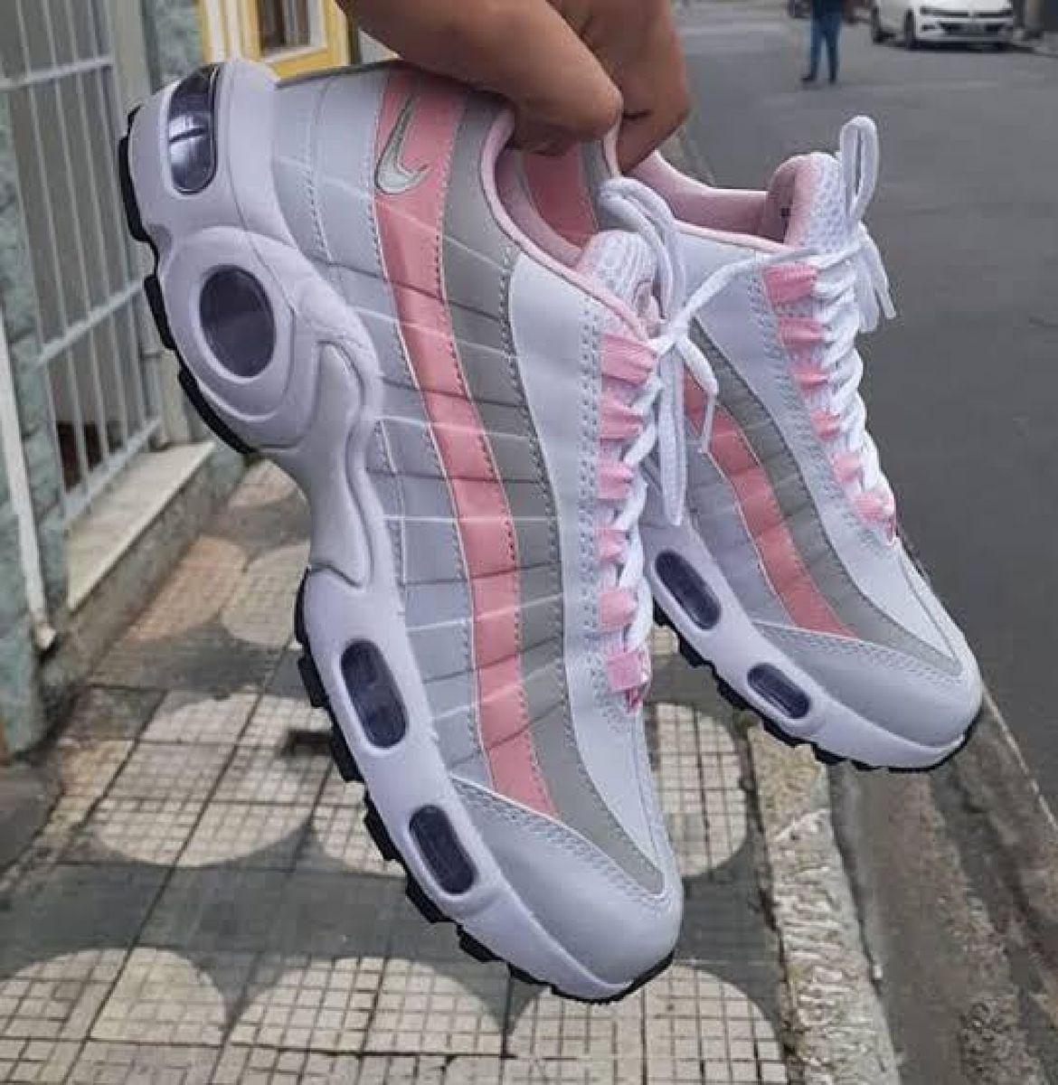 air max 95 branco com rosa