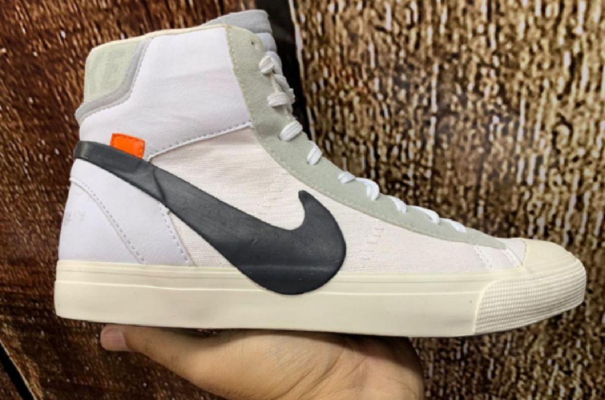 Cuando Especificado Montaña  Tênis:Nike Blazer Mid X Off-White