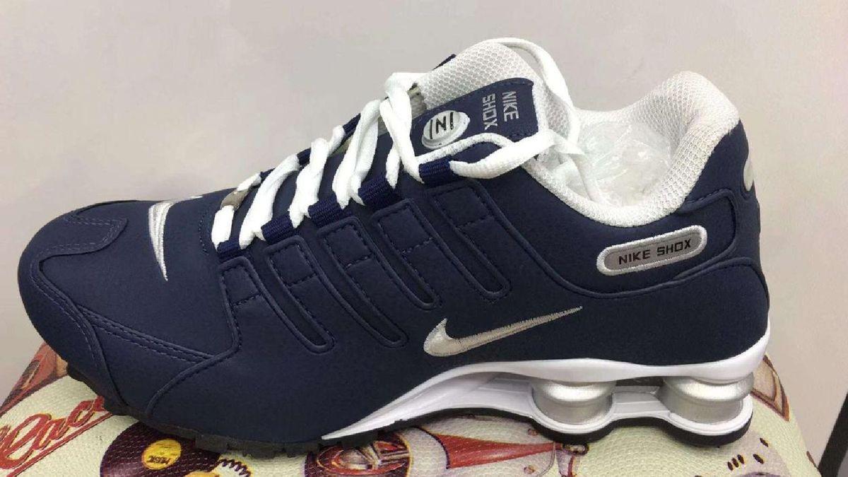 3489623e23f93 tenis nike shox nz azul cinza novo na caixa oferta numero 39 - tênis nike