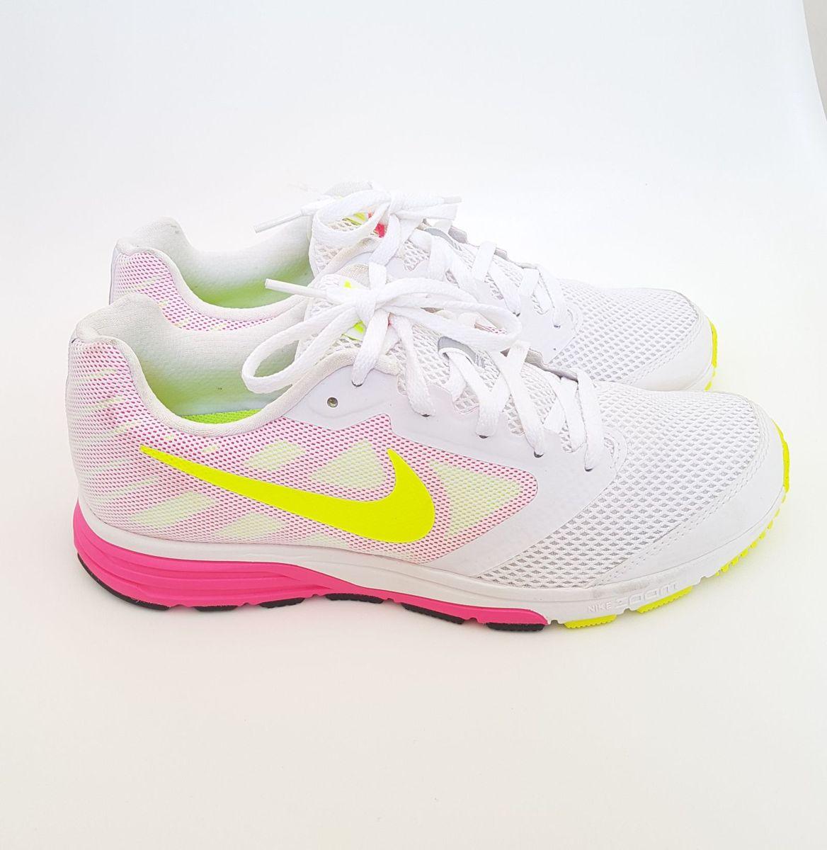 Irregularidades patio Acercarse  Tênis Nike Zoom Fly Branco, Rosa e Amarelo Neon 38 | Tênis Feminino Nike  Nunca Usado 30359617 | enjoei