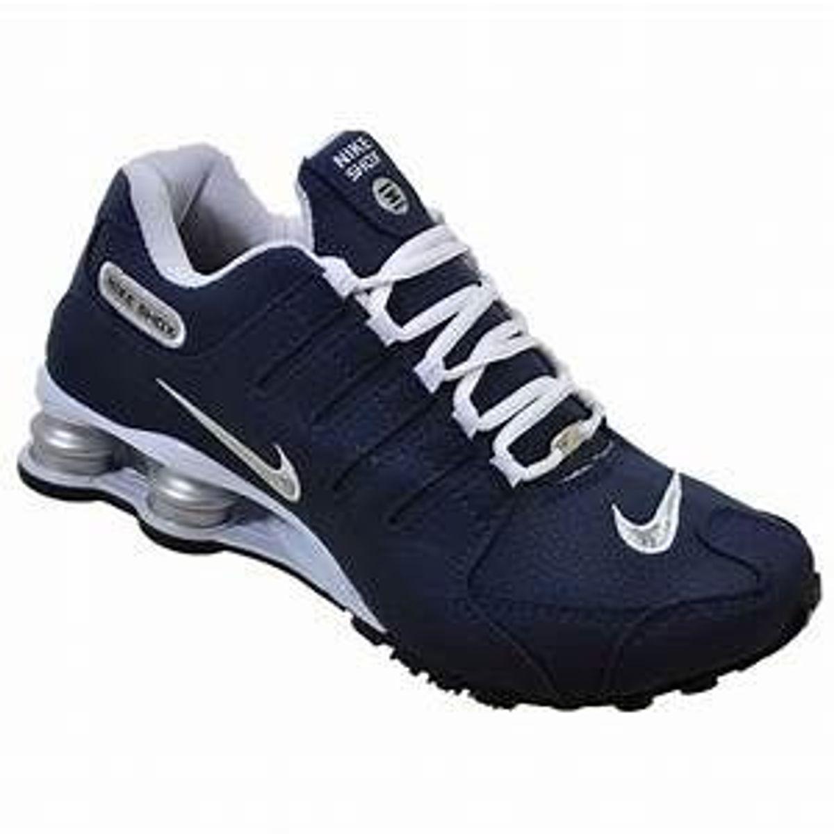 00222c4fdd9 Tenis Novo Nike Shox Nz Azul Numero 43