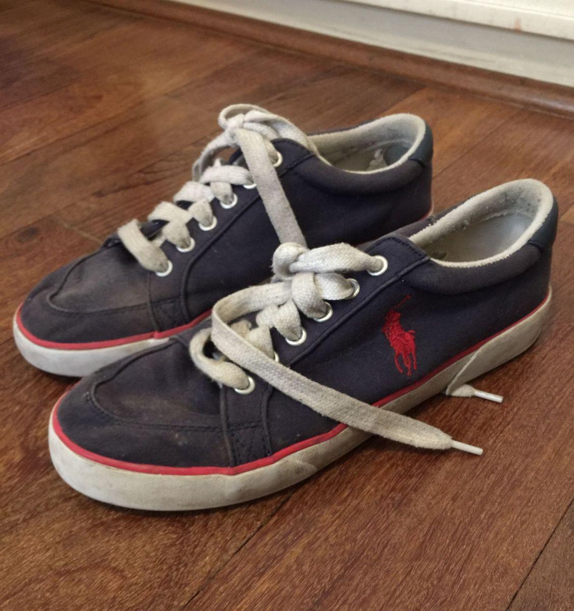 dae1ac0ada25f Tenis Polo Ralph Lauren | Sapato Masculino Polo Ralph Lauren Usado ...