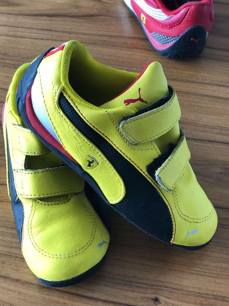 09271900af Tênis Puma Ferrari Amarelo Infantil | Calçado Infantil para Meninos ...