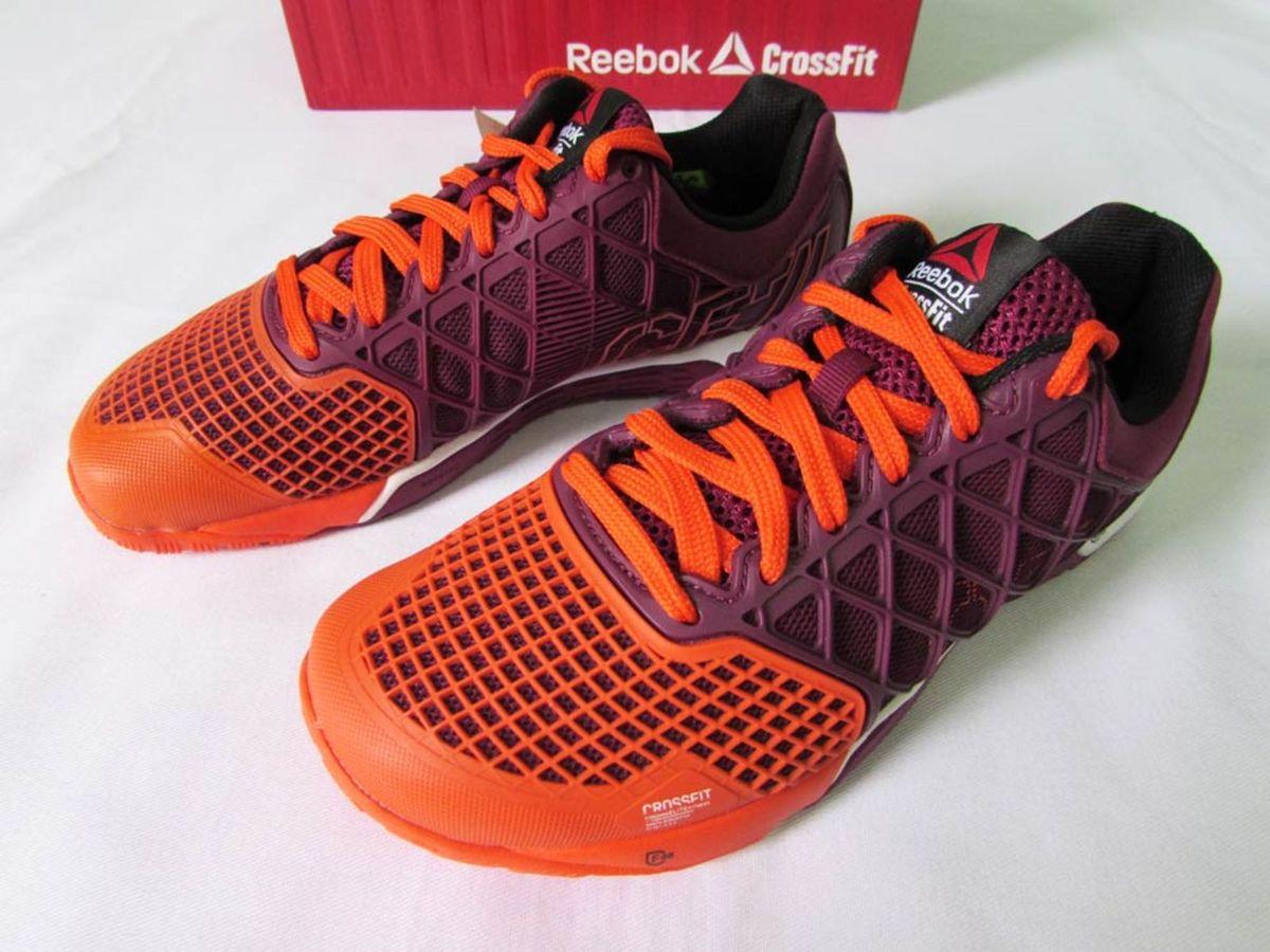 79d916f34bc tenis reebok crossfit nano 4.0 roxo laranja feminino 36 - tênis reebok