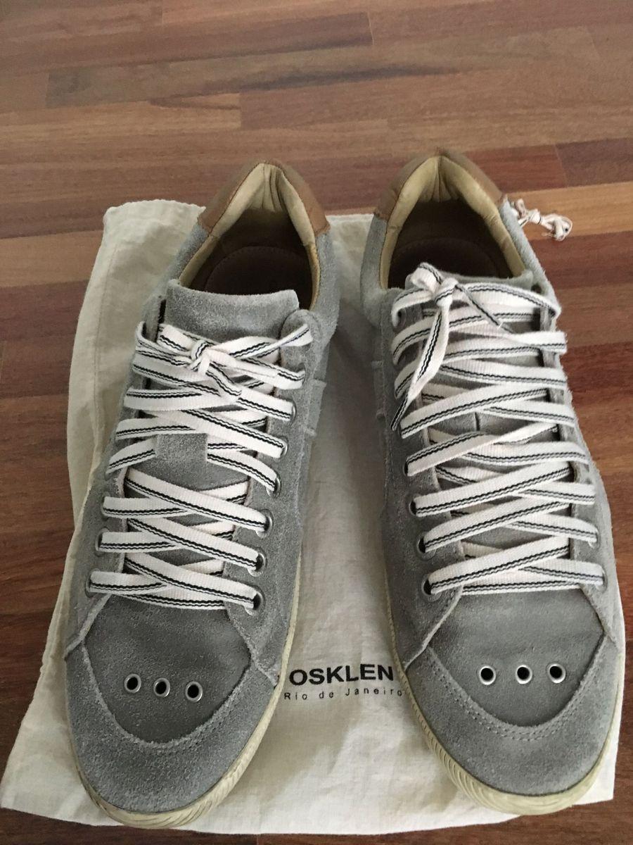 f563b029c Tênis/sapatênis Osklen Cinza em Couro | Tênis Masculino Osklen Usado ...