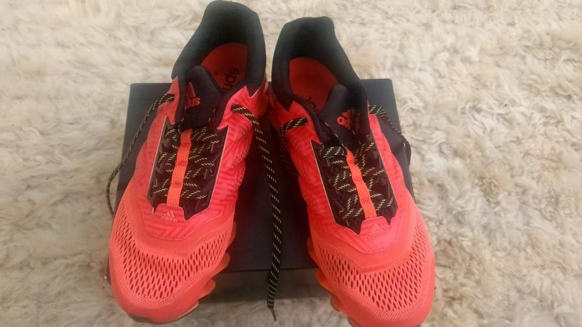 tênis springblade laranja da adidas - tênis adidas