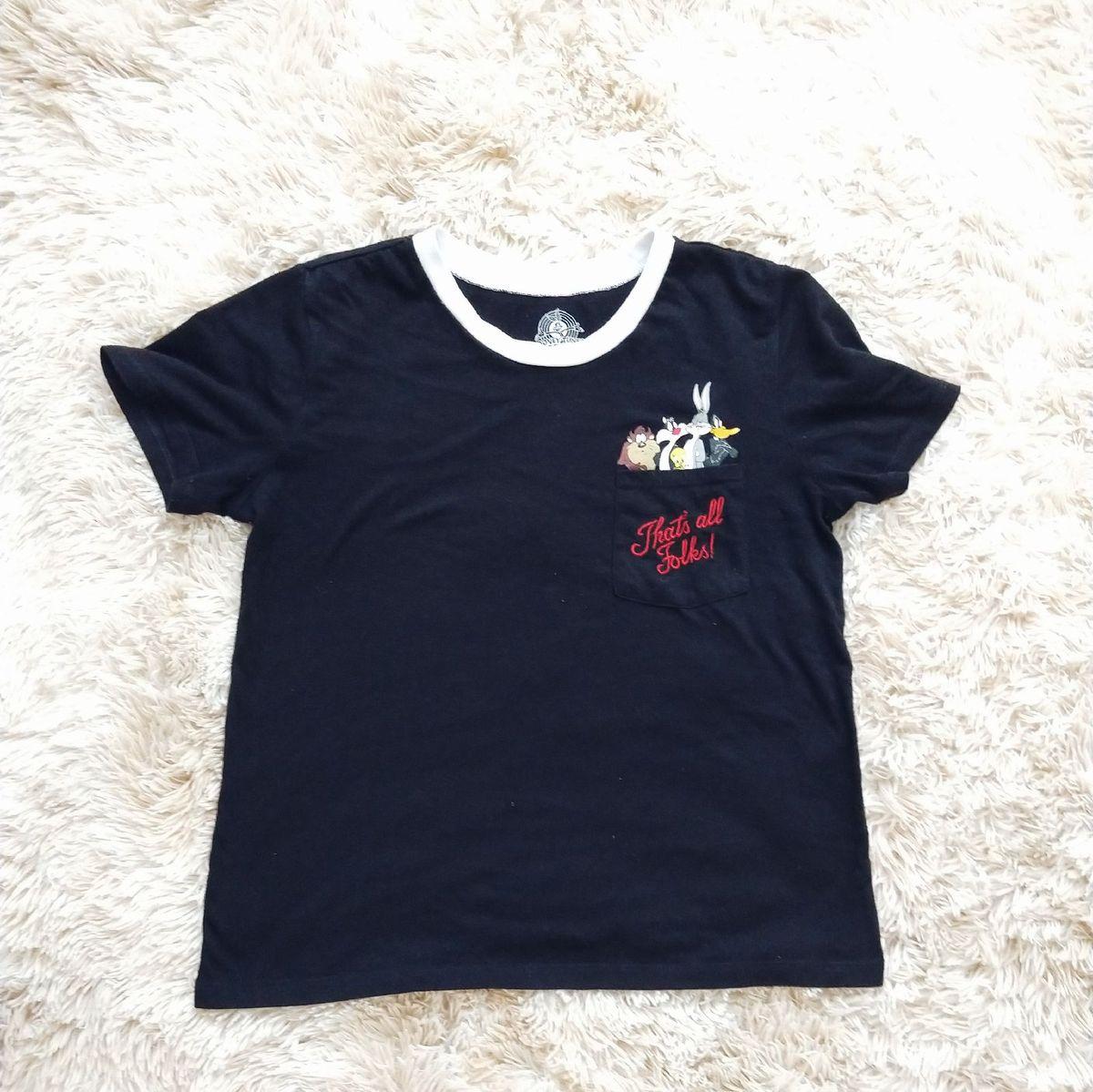 42fcec2998 camiseta forever 21 that s all folks! - camisetas forever-21