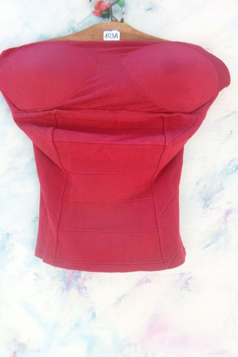 cbe9e9e93f top feminino vermelho bojo cropped tomara-que-caia - blusas top feminino  vermelho bojo