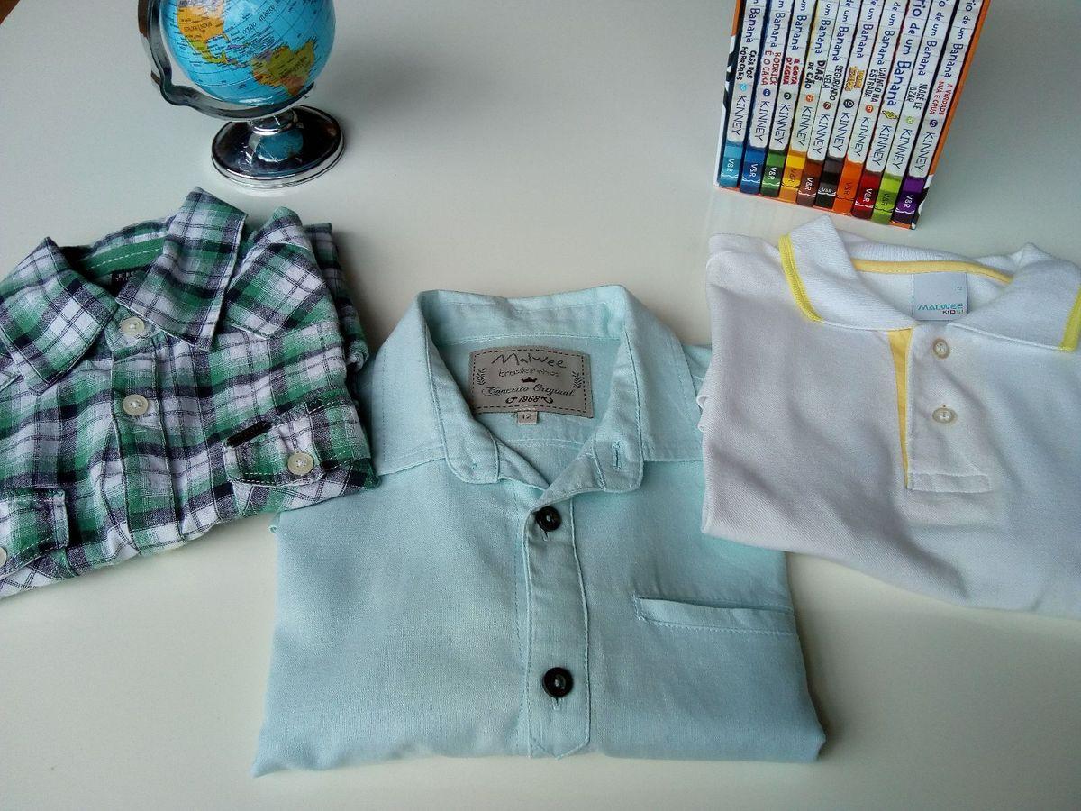 trio camisas 12 anos - menino malwee-tigor-t-tigre