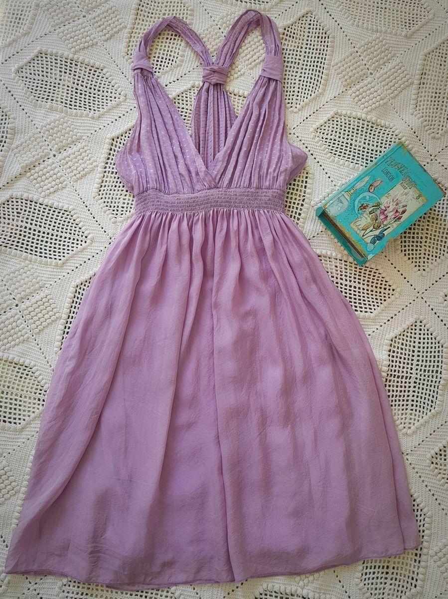 09444f12d1c vestidinho leve em pura seda lilás - vestidos hbf