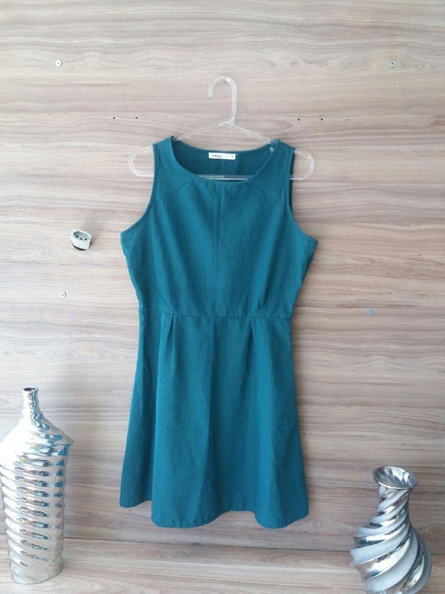 vestidinho verde-escuro - vestidos importado